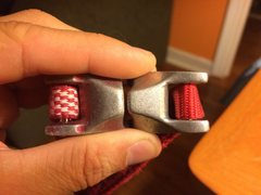 Rock Climbing Photo: Red dyneema left Evo right