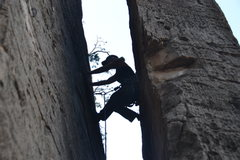 Rock Climbing Photo: Get your chimney moves on for this one.