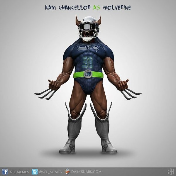 An actual spirit form of Kam Chancellor that may visit from what I have experienced.