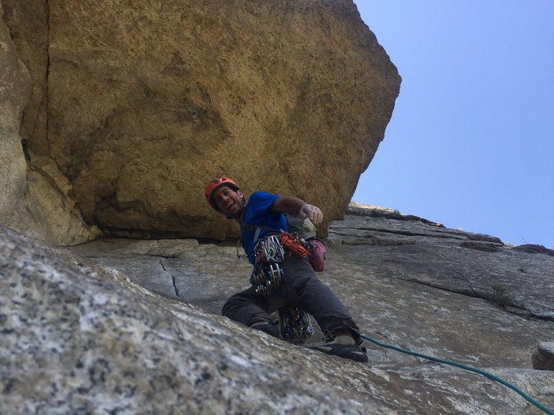 Rock Climbing Photo: committment