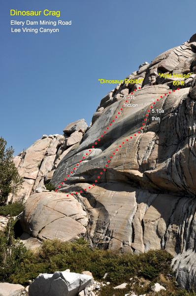 "Rock Climbing Photo: ""Acid House"" (5.10a), Dinosaur Crag, Ell..."