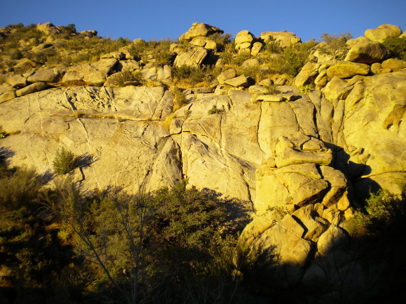 Rock Climbing Photo: North Side Slabs - intriguing slab & friction boul...