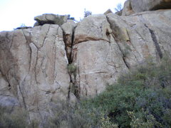 Rock Climbing Photo: Upper Canyon Right - toprope problems up & down th...