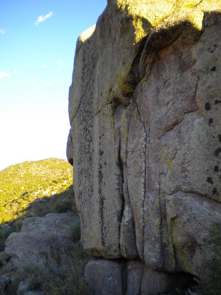 Rock Climbing Photo: High Right Cracks - above & to the right of Roybal...