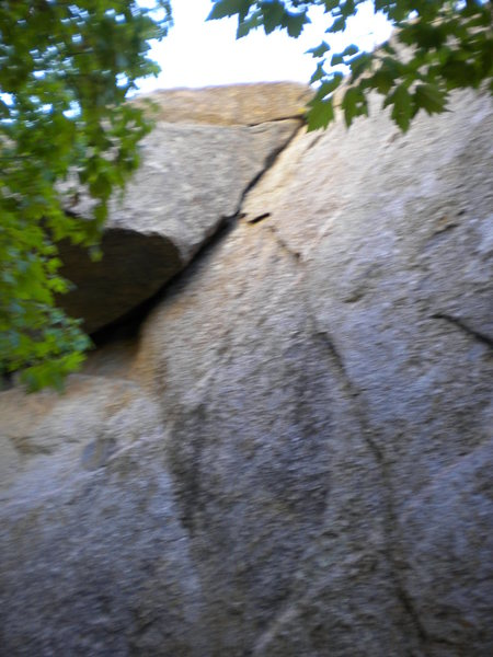 Arching Flake crack - also in the Grotto, 5.7 or 5.8.