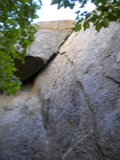 Rock Climbing Photo: Arching Flake crack - also in the Grotto, 5.7 or 5...