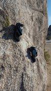 Rock Climbing Photo: Downclimb?