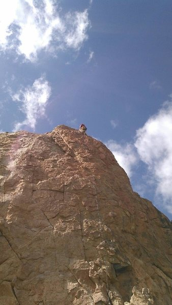 """Rock Climbing Photo: Me, topping out on """"Coyotes"""""""