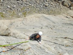 Rock Climbing Photo: Mandy Fabel having just fired the crux of Lady and...