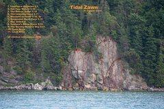 Rock Climbing Photo: Tidal Zawn old topo