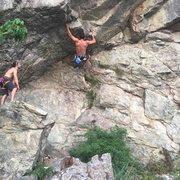 Rock Climbing Photo: Salvador Olson on Aquaman