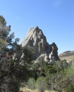 Rock Climbing Photo: Parking Lot Rock from trail to Window Rock and Buz...