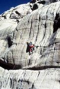 Rock Climbing Photo: TRing the right hand of the two Dinosaur TRs (5.10...