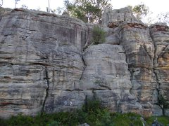 Rock Climbing Photo: Location and names of routes on main west face. 1-...