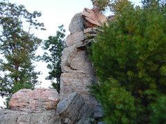 Rock Climbing Photo: Striking chossy rock in the early fall sunlight