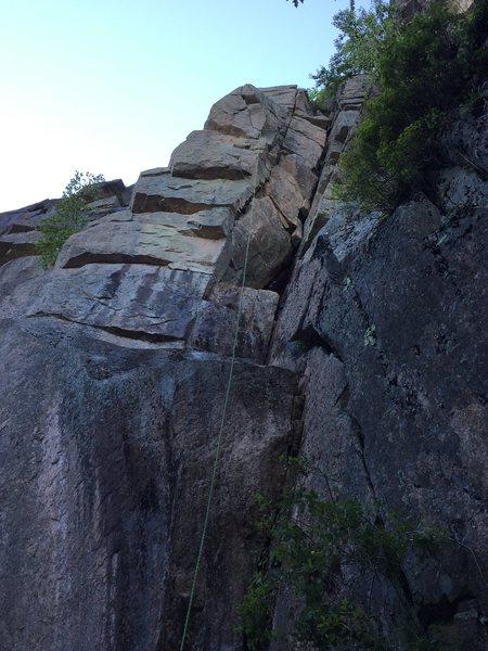 Rock Climbing Photo: 50m of crack