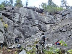 Rock Climbing Photo: The ball park (right-most climbing alcove.) Ballro...