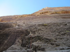 Rock Climbing Photo: Looking up the first pitch. The most difficult mov...
