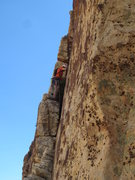 Rock Climbing Photo: Following the block traverse pitch to get back on ...