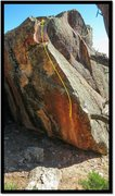 Rock Climbing Photo: Vlad Vexer problem beta.