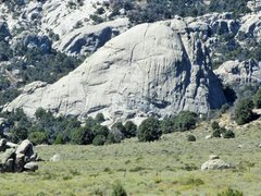 Rock Climbing Photo: Stripe Rock; from trail leading to the formation.