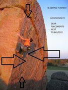 Rock Climbing Photo: Bolts next to cracks used to tweak me so hard.  Bu...