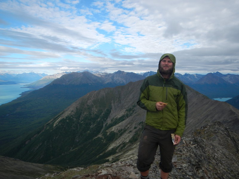 Top of Mt. Tanalian in Lake Clark NP, Alaska