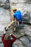 Rock Climbing Photo: A good spotter is an essential piece of equipment....