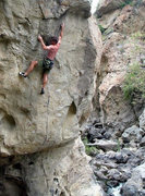 Rock Climbing Photo: Louie Anderson on the FA