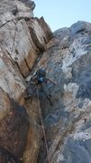 Rock Climbing Photo: Pitch 12 of North Buttress Direct, pitch 10 of Nor...