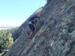 Rock Climbing Photo: Midway up.