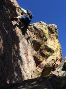 Rock Climbing Photo: Downclimb that we did.