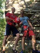 Rock Climbing Photo: Stoke is high
