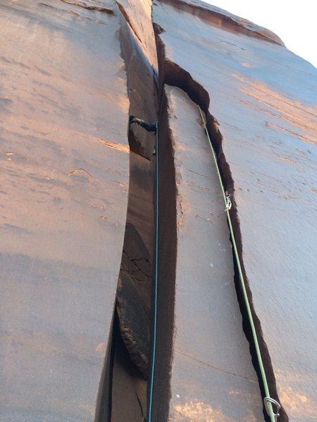 Rock Climbing Photo: On sight, first assent!