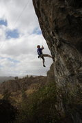 """Rock Climbing Photo: Climber working a hard route on the """"5.13 Wal..."""