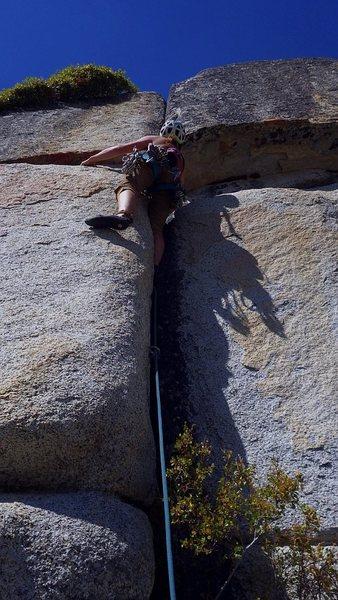 Rock Climbing Photo: Allison leading Cash Register.  20 Sep 2015.