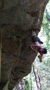 Rock Climbing Photo: Milking the bat hang
