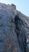 Rock Climbing Photo: Starting up pitch 15.