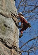 Rock Climbing Photo: Starting the arete bit
