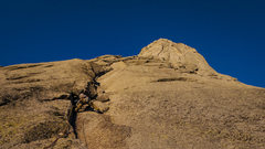 Rock Climbing Photo: P2 - we climbed the face left of the dihedral to s...