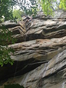 Rock Climbing Photo: pulling through the fun dihedral for one last sit ...