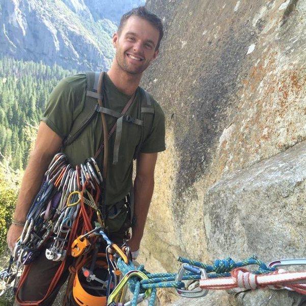 Rock Climbing Photo: Taken on a route near Yosemite Falls
