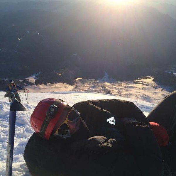 Just before the summit on Mount Rainier