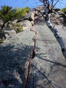 Rock Climbing Photo: Here is the beta for the obvious yakapodu crak.  M...