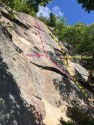 Rock Climbing Photo: Stand Your Ground crack on the right and Action St...