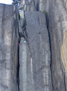 Rock Climbing Photo: this is how you go following Reid topo on P3