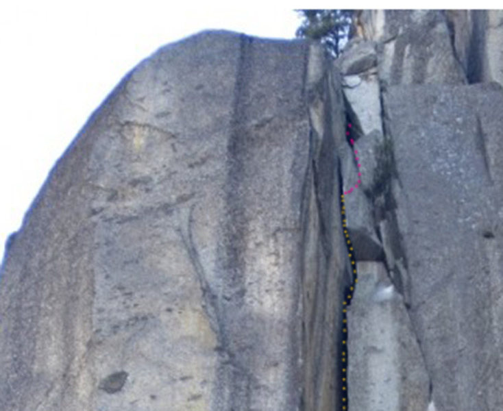 "Rock Climbing Photo: this is how you go passing through the ""narro..."