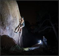 Rock Climbing Photo: Night bouldering.