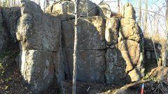 Rock Climbing Photo: East End of the Reach Around Boulders
