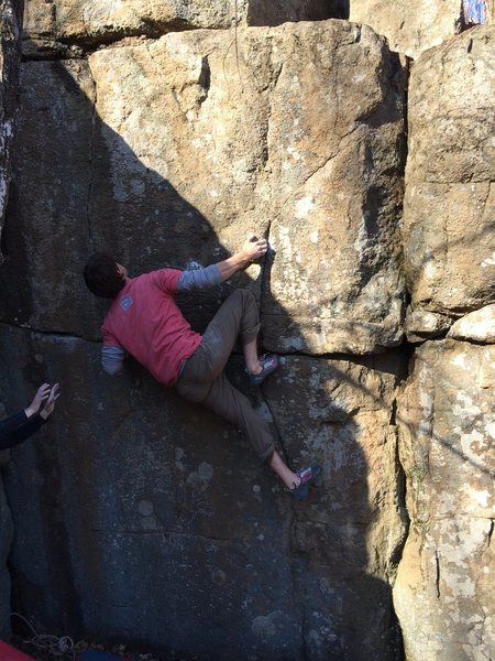 Rock Climbing Photo: How the hell do you move out of this position? Som...
